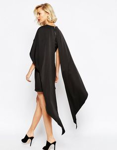 Image 2 ofLavish Alice Cape Overlay Shift Dress