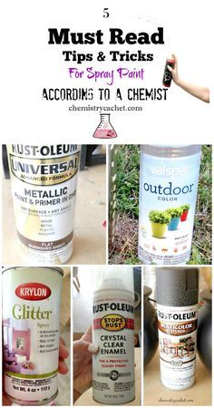 Five Must Read Tips & Tricks For Spray Paint According to a chemist! on chemistrycachet.com