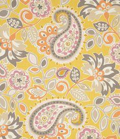 Tonic Living,Ollie, Mango,100% Cotton,Retro futon covers, retro fabric and pillows