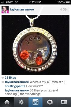 Tennessee Origami Owl necklace