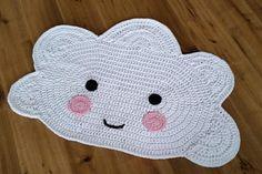 Children's rug Cloud / cloud carpet / crochet