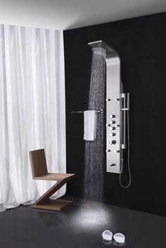 Fresca Palermo Stainless Steel Thermostatic Shower Massage Panel U2013 Inspired  Baths
