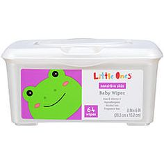 Little Ones Sensitive Skin Baby Wipes 64 CT TUB
