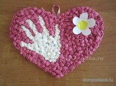 DIY Heart with hand and flower Valentine Crafts, Valentines, Pop Up Flower Cards, Diy For Kids, Crafts For Kids, Mather Day, Mothers Day Crafts, Preschool Art, Mother And Father
