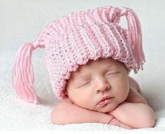 Baby Girl Hat, 6 to 12 Months Baby Girl Monkey Hat, Baby Crochet Flapper Beanie, Baby Pink with White,Yellow Flower. Great for Photo Props. Baby Girl Hats, Girl With Hat, Baby Boy Outfits, Baby Girls, Newborn Girls, Toddler Girl, Monkey Hat, Monkey Girl, Chunky Monkey