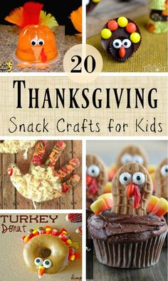 20 Edible Thanksgiving Crafts for Kids - Das Erntedankfest Thanksgiving Crafts For Toddlers, Kids Food Crafts, Thanksgiving Favors, Edible Crafts, Thanksgiving Crafts For Kids, Thanksgiving Parties, Daycare Crafts, Thanksgiving Turkey, Thanksgiving Recipes