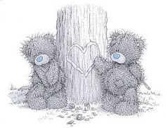 tatty teddy my blue nose friends Tatty Teddy, Teddy Bear Images, Teddy Bear Pictures, Cute Images, Cute Pictures, Pictures Images, Art D'ours, Watercolor Card, Moon Bear