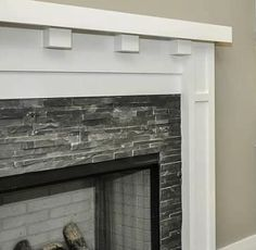 Fireplace Surround Tile - Mission Stone and Tile - Luxury Tile Store - Nashville, TN Slate Fireplace Surround, Tile Around Fireplace, Fireplace Backsplash, Mosaic Fireplace, Fireplace Facade, Fireplace Update, Brick Fireplace Makeover, Home Fireplace, Fireplace Remodel