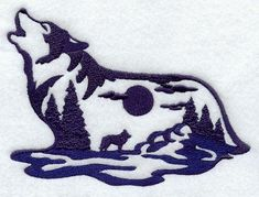 Machine Embroidery Designs at Embroidery Library! - Wolf ...