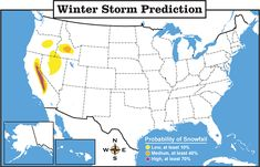 Be a Weather Reporter! Students use map to make predictions about the forecast.