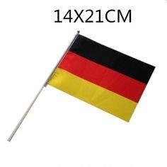 5 Stück mini Deutsche-FlaggenFahnen & Banner Material: Polyester Größe: 14cm x 21cm