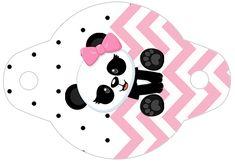 Enfeite Canudinho Panda Rosa Menina - Fazendo a Nossa Festa Panda Birthday Party, Panda Party, Silhouette Projects, Safari, Birthdays, Kids Rugs, Crafts, Diy, Ideas