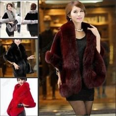 Wraps and Jackets 105472: 2015 New Noble Mink Bridal Wedding Faux Fur Long Shawl Stole Wrap Shrug Scarf Mn -> BUY IT NOW ONLY: $31.25 on eBay!