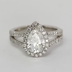 Pear Shaped Diamond Ring from Oliver Smith Jeweler.