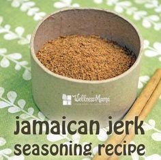 Jerk Seasoning Recipe  This homemade Jamaican jerk seasoning combines onion powder, sea salt, thyme, allspice and cinnamon (and optional Cayenne) for a complex homemade seasoning.