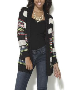 Aztec Striped Wrap | Shop Sweaters at Wet Seal