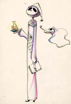 "timburtonsblog: "" "" Original sketches by Tim Burton. "" The Nightmare Before Christmas """