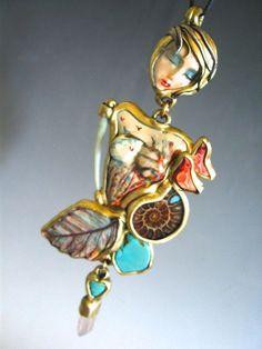 Handmade Art fall colors Crow Goddess spirit by SusanSorrentino