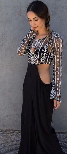 #summer #dashboutique #outfits | Cutout Detail Jumpsuit