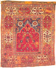 Manisa Transylvanian prayer rug. XVII. Ottoman Turkish carpets of the MAA Budapest