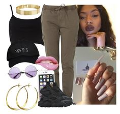 """""""Draft"""" by saucinonyou999 ❤ liked on Polyvore featuring River Island, October's Very Own, NIKE, INDIE HAIR and Rebecca Norman"""