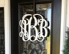 monogrammed wreath