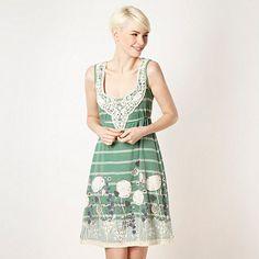 4c380ae9f5c83 Mantaray Green crochet trim jersey dress. Mantaray ClothingScoop Neck ...