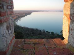 Lake Trasimeno seen from the fortress of the lion