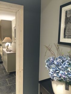 Charcoal, Mist and Lily colours from Neptune Decor, Hallway Decorating, Kitchen Projects, Living Room Color, Colours, Interior Styling, Living Room Interior, Paint Colors, House Colors