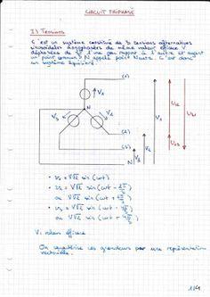 Cours bien détaillé : Circuit Triphasé ~ Cours D'Electromécanique