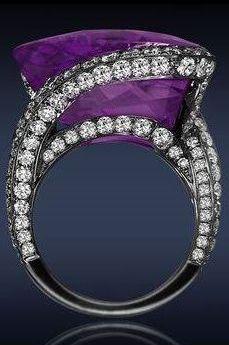 ❤ Jacob & Co. Amethyst Diamond Ring