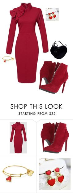 """GO RED FOR WOMEN"" by gyhulm ❤ liked on Polyvore featuring WithChic, Michael Antonio and aha"