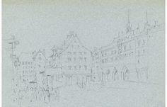 Rev Henry Robinson Wadmore - 1872 Graphite Drawing, Bâle (Basel), Switzerland