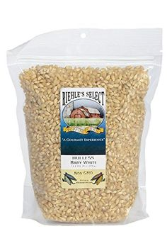 Riehle's Select Popping Corn - Hulless Baby White Old Fashioned Whole Grain Popcorn - Resealable Bag - Non GMO, Gluten Free, Microwaveable, Stovetop and Air Popper Friendly - Poptiva Free Popcorn, Popcorn Kernels, Gourmet Popcorn, Wine Recipes, Gourmet Recipes, Snack Recipes, Snacks