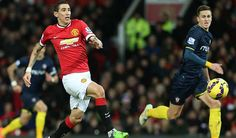 Di maria on action  against Southampton ( 2015 11th jan )
