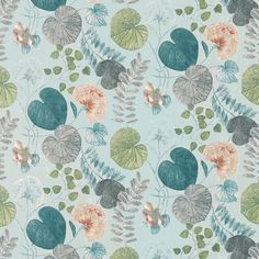 Dardanella Fabric - Seaglass/Russet (120416) - Harlequin Palmetto Fabrics Collection