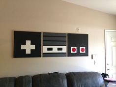 retro nintendo controller art, easy diy - Décoration et Bricolage Nerd Room, Gamer Room, Nerd Cave, Geek Man Cave, Diy Wand, Retro Home Decor, Diy Home Decor, Modern Decor, Mur Diy