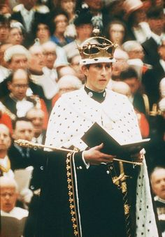 Prince Charles at his investiture as Prince of Wales in July 1969.