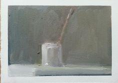 Karen Kaapcke, brush, oil on paper, Be Still, Still Life, Powerful Art, Hyperrealism, Painting & Drawing, Glass Vase, Header, Inspiration, Paintings