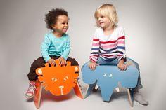 Kinderhockern mit Tieren // Kid's animal stools by julicadesign via DaWanda.com