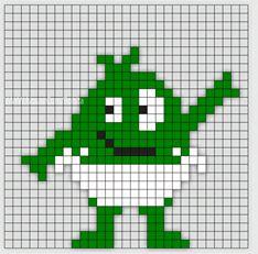 Min mamma jobbar som Förskollärare och frågade om jag kunde göra Babblarna i pärlplattor. Så jag satte mig ner vid skrivbordet och började pyssla ihop lite pärl Hama Beads Design, Hama Beads Patterns, Beading Patterns, Embroidery Patterns, Knitting Patterns Boys, Loom Knitting, Small Cross Stitch, Alpha Patterns, Kids Corner