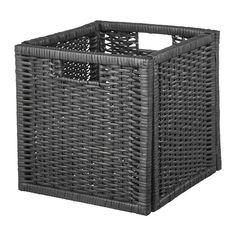 KALLAX Baby Storage, Small Storage, Storage Boxes, Storage Ideas, Rattan, Ikea Basket, Baskets, Kallax Shelving, Wood Hinges