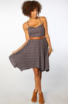 The Home Sweet Dress in Iron by ONeill #Karmaloop Discount Rep Code: STYLECAFE