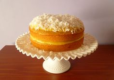 Cantaloupe Cake with Orange Curd Filling and Coconut Topping Recipe