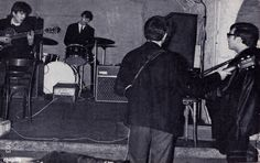 The Beatles at the Cavern, probably 30-31 January 1963. Photo by Mike McCartney
