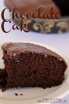 Chocolate Cake baked in a solar cooker