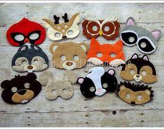 Máscara de oso de peluche criaturas del por TheMaskedMenagerie