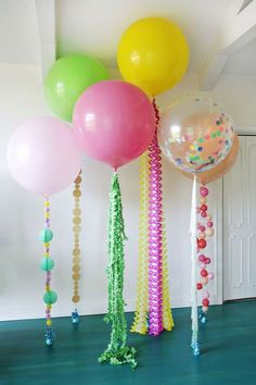 5 Balloon DIYs for Your Holiday Party! | A Beautiful Mess | Bloglovin'
