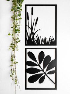 Flower Wall Decor, Metal Wall Decor, Wood Wall Art, Framed Wall Art, Wall Art Decor, Wall Art Designs, Wall Design, Leaf Wall Art, 3d Laser