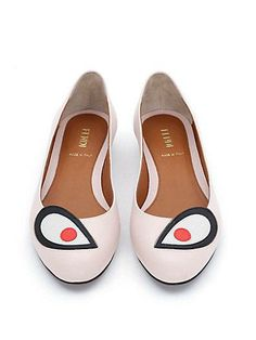 Fendi's Monster flats are a great gift for the quirky girl.